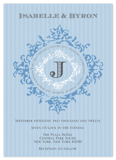 wedding invitations - Something Blue and Elegant by Kate Terhune