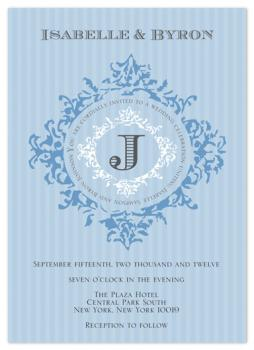 Something Blue and Elegant Wedding Invitations