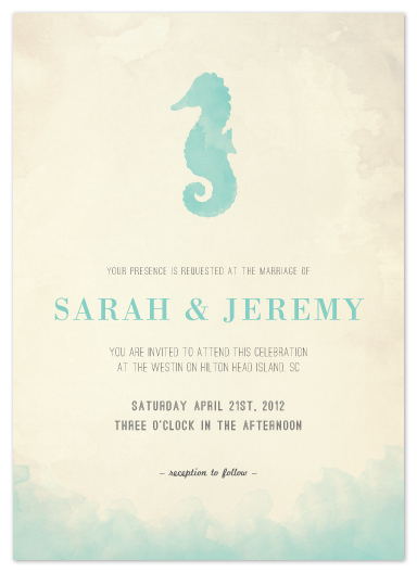 wedding invitations - Under the Sea by Elaine Stephenson
