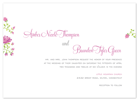 wedding invitations - Heirloom Floral by Larkspur West Paperie