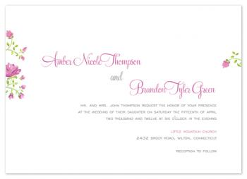 Heirloom Floral Wedding Invitations