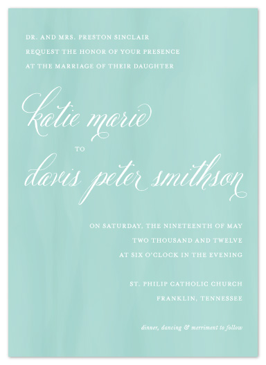 wedding invitations - Sweet Subtlety