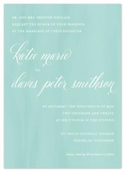 Sweet Subtlety Wedding Invitations