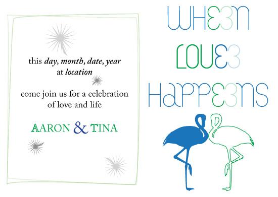 wedding invitations - Love Happens by NNGdesign