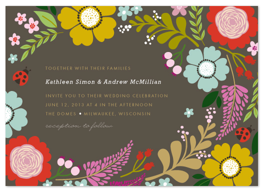 wedding invitations - Ladybug Garden by Alethea and Ruth