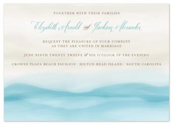 Cerulean + Sand Wedding Invitations