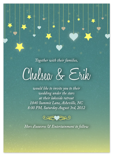 wedding invitations - Stars and Hearts Evening by Simply Shira
