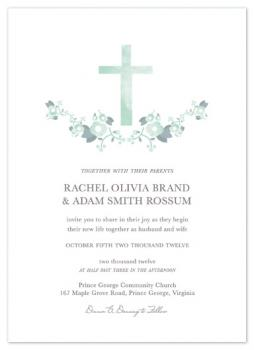 crossed watercolor Wedding Invitations