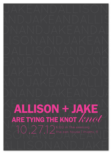wedding invitations - Scrolling Names by Emily Ford