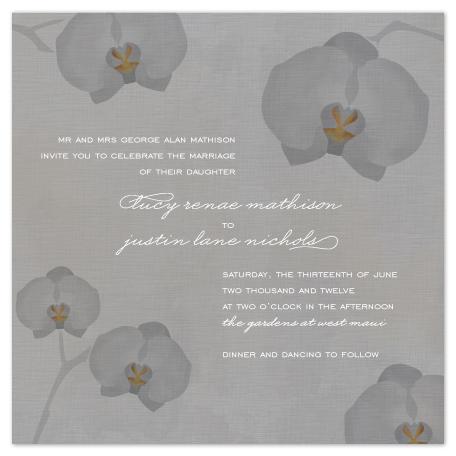 wedding invitations - Orchids by Wendy Van Ryn