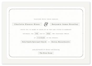 Dapper Wedding Invitations
