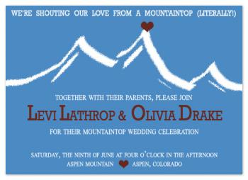 Shout It From A Mountaintop Wedding Invitations