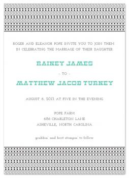Native in the Mountains Wedding Invitations