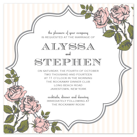 wedding invitations - Coming Up Roses by Jacqueline Dziadosz