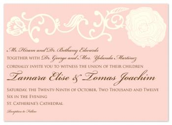 Blushing Bloom Wedding Invitations