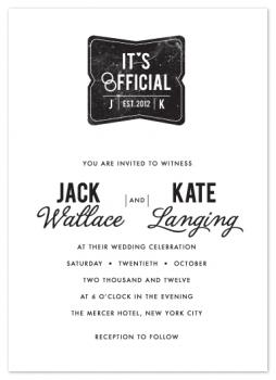 Branded Wedding Invitations