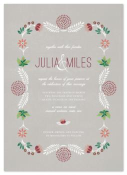 Botanic Wedding Invitations