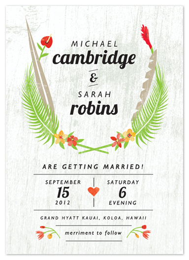 wedding invitations - Tropical Fare by Yolanda Mariak Chendak