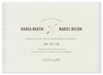 newsprint Wedding Invitations