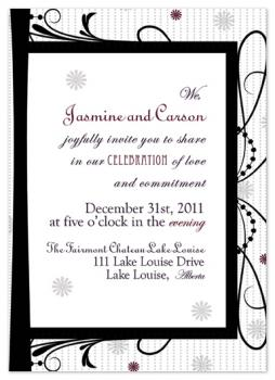 New Years Eve Knockout Wedding Invitations