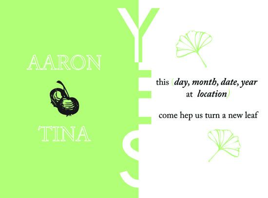 wedding invitations - A new Leaf by NNGdesign