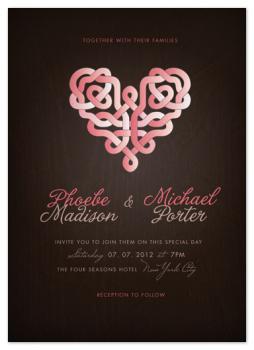 Intertwined In Love Wedding Invitations