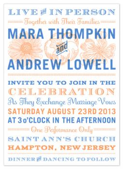 big big show Wedding Invitations