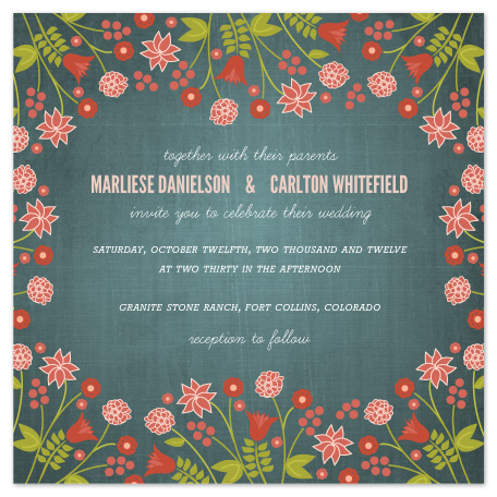 wedding invitations - Serendipity Floral by Wendy Van Ryn