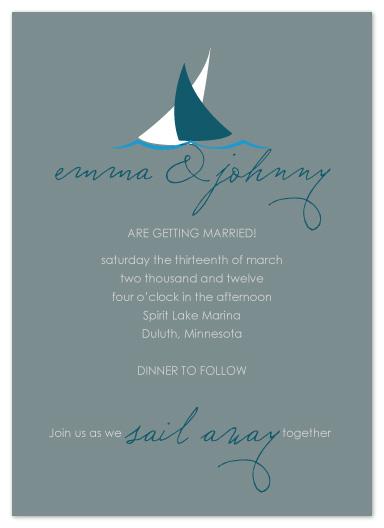 wedding invitations - Sail Away by Jen Wawrzyniak