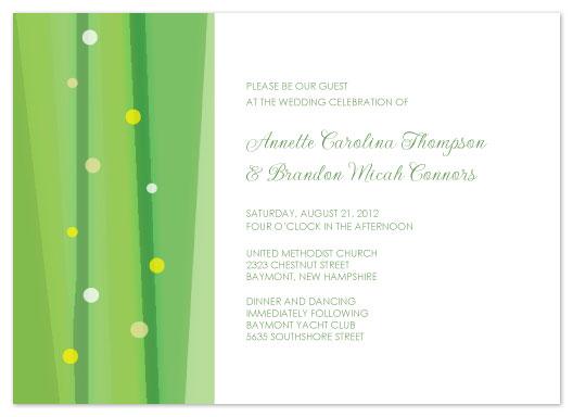 wedding invitations - Dream in Green by Jenn Johnson