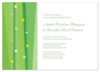Dream in Green Wedding Invitations