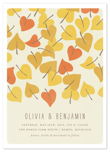 wedding invitations - Autumn Leaves by Snow and Ivy