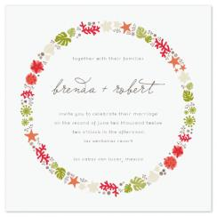 sea shells by the sea shore Wedding Invitations