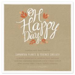 Fall Days Wedding Invitations
