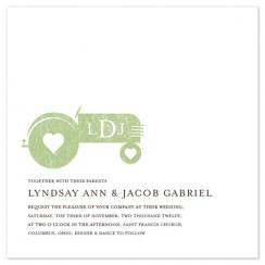 Tractor Love Wedding Invitations
