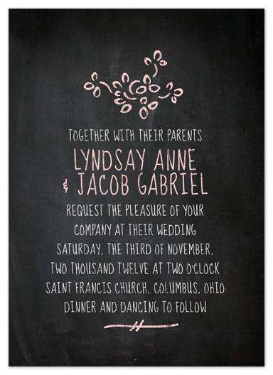 wedding invitations Chalkboard Wedding by Katie Dirksen