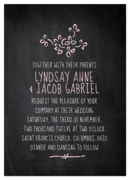 Chalkboard Wedding Wedding Invitations