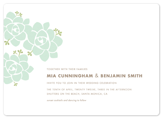wedding invitations - Sunday Succulent by Carolyn MacLaren