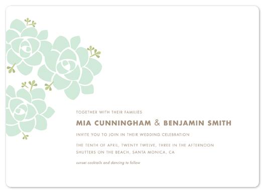 wedding invitations - Sunday Succulent by Carolyn MacLaren
