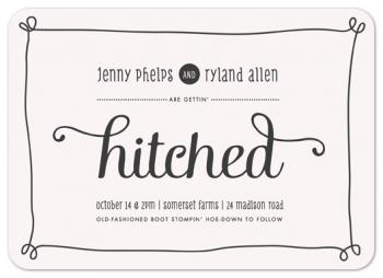 Hitched Frame Wedding Invitations
