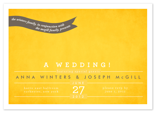 wedding invitations - featuring special guests by Up Up Creative