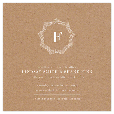 wedding invitations - Brown Bag