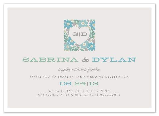 wedding invitations - Love Blooms by Karen Glenn