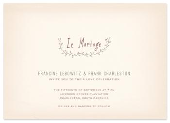 le mariage Wedding Invitations
