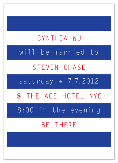 wedding invitations - so stripe by Precious Bugarin Design