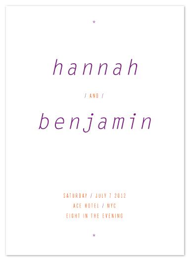 wedding invitations - on a slant by Precious Bugarin Design