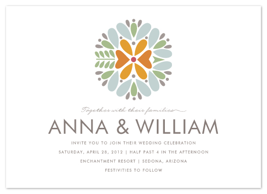 wedding invitations - Kaleidoscope by Griffinbell Paper Co.
