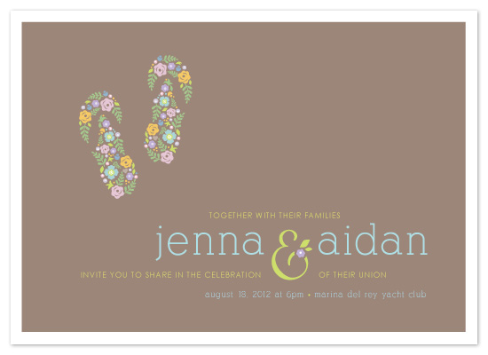 wedding invitations - What A Pair by Smudge Design