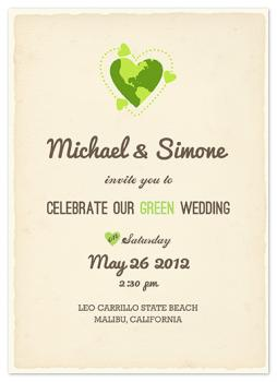 Green Love Wedding Invitations