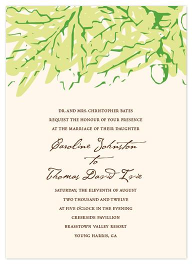 wedding invitations - Acorns in Fall by - Keg Design -